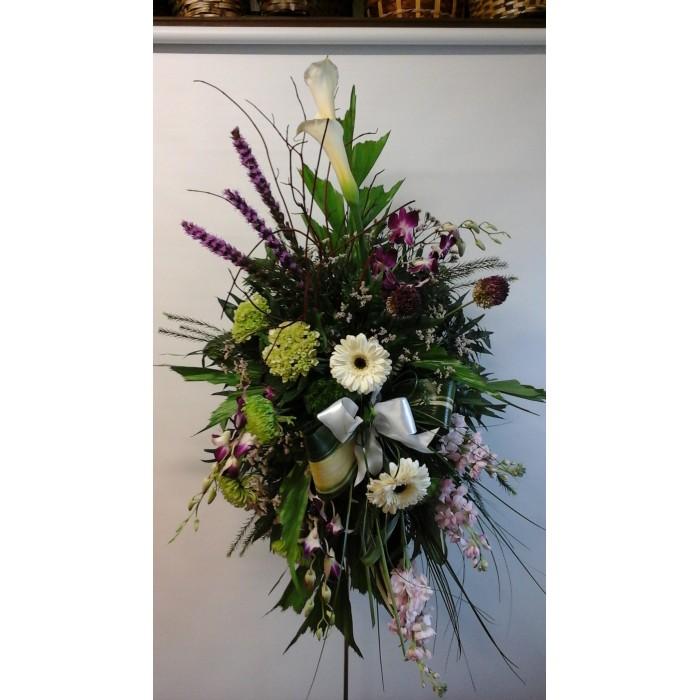 Bouquet de fleurs gerbe funéraire