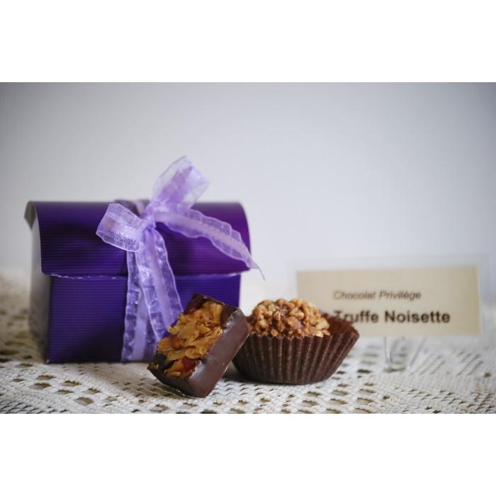Chocolats fins boite de 4 morceaux