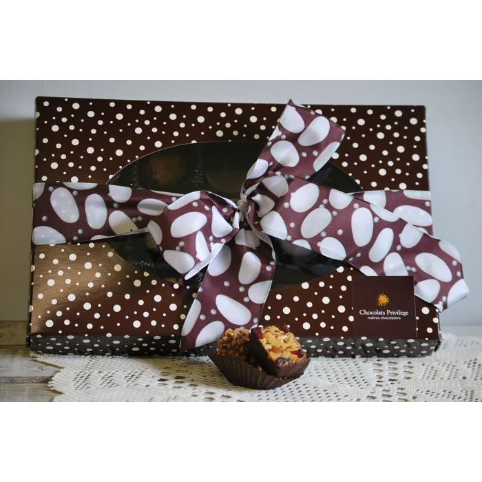 Chocolat fin 70% cacao boite de 16-20 morceaux